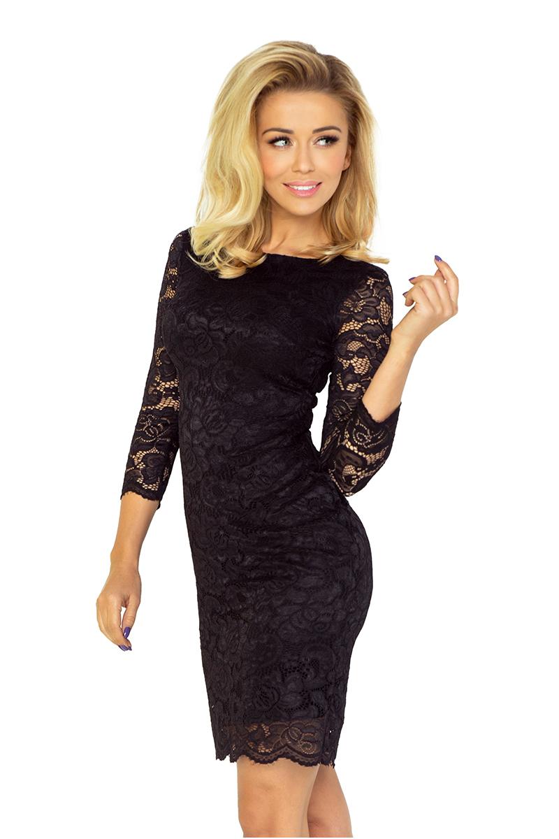 Kleid mit Spitze - schwarz 145-1 - Numoco DE