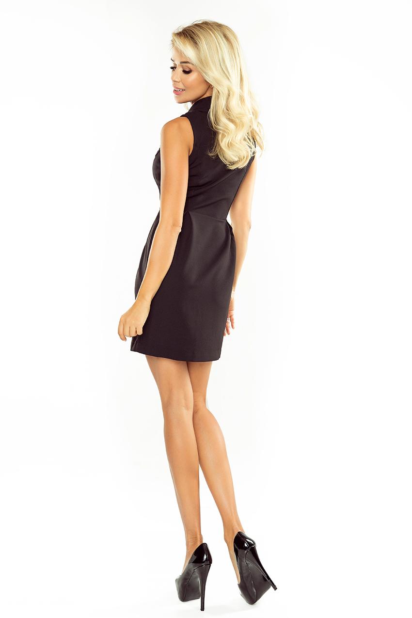 Kleid mit Ausschnitt - schwarz 153-4 - Numoco DE